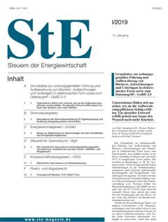 StE - Steuern der Energiewirtschaft